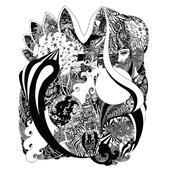 Visions / Encre sur papier / 50/65cm / 2014 | claire courdavault