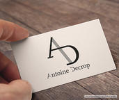 Logotype Antoine Decrop, pianiste | Audrey Tumelin