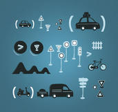 Kit pictograms routiers. | Pascal Cornée