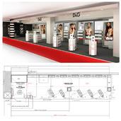 Podium de lancement Sephora-Parfum D&G | DAVID SALEZ