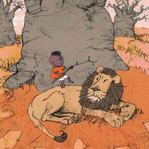 Idris et le lion | Jean Bossard