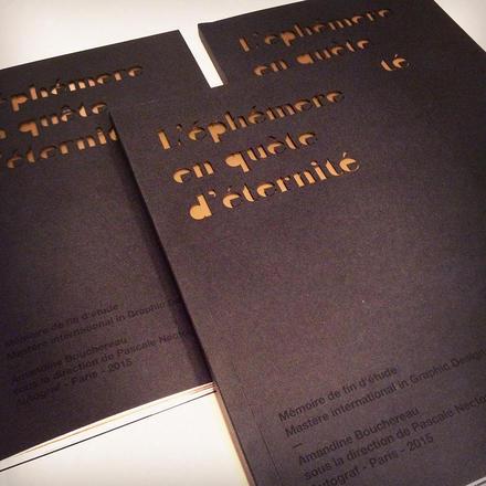 Mémoire de fin d'études répondant à la problématique suivante : Le papier a t-il encore une place dans notre société ? | Amandine Bouchereau