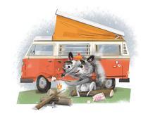 Raccoon camping. | Mez CLARK