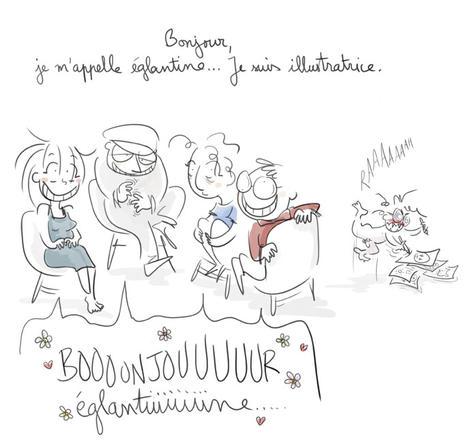 """Je suis illustratrice"" | *églantine chesneau*"