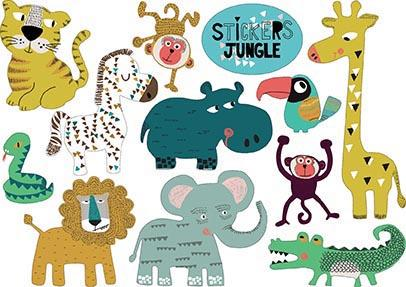 stickers jungle | isabelle chauvet