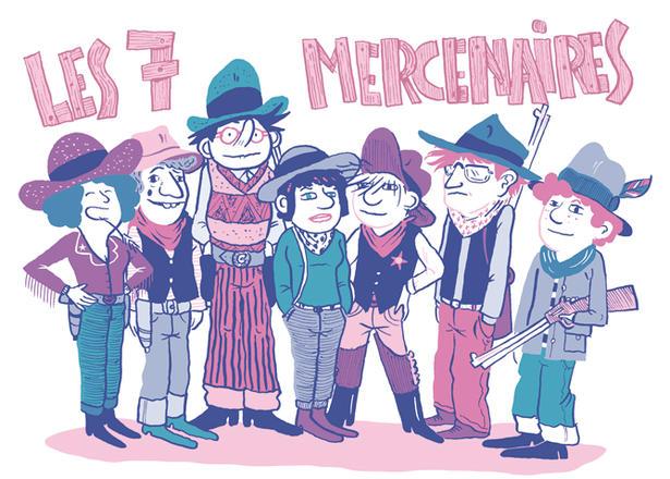 Les sept Mercenaires | Anne-Charlotte Gautier