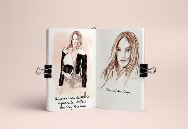 Illustration de mode. | sylvie santelli