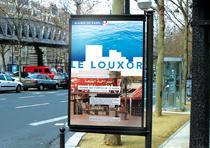 Création de l'univers visuel du Louxor, centre dédié aux cutlures méditerranéennes (projet personnel dans le cadre des études).   Aurélie Longobardi