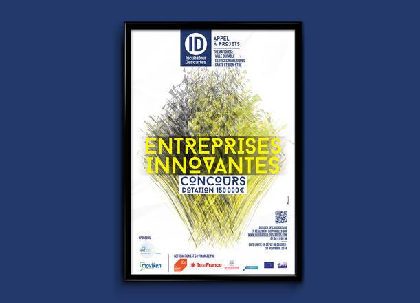 Création du visuel d'un concours destiné aux entreprises innovantes en création.   Aurélie Longobardi