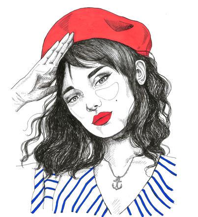 Marinière illustration   Florence Simonne