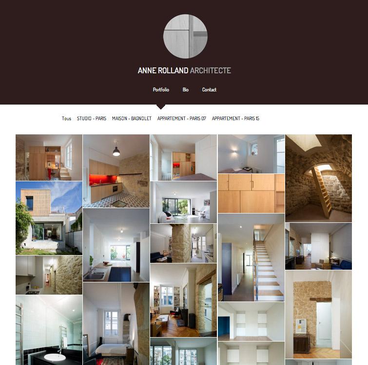Modèle de portfolio Zoom 2016 - Anne Rolland