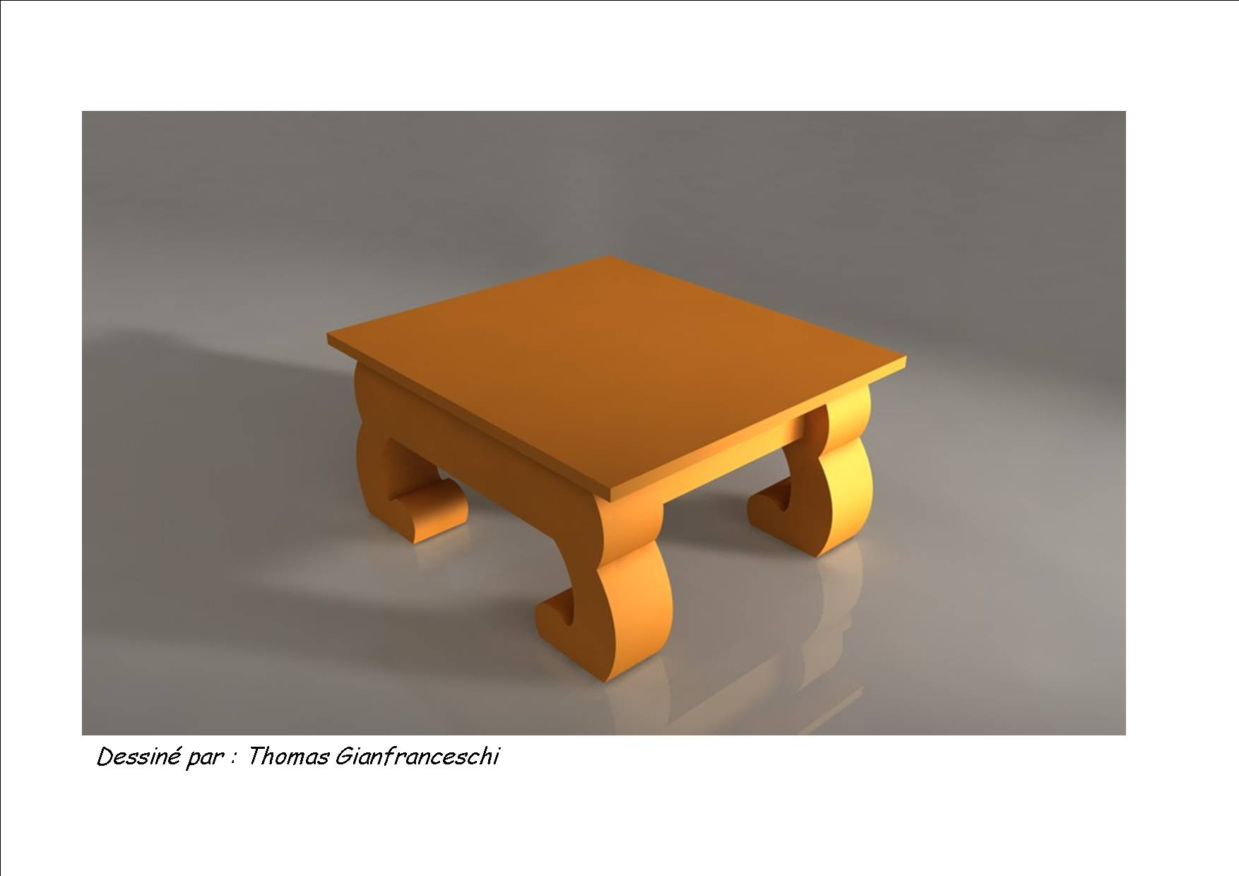 Plexi table for Table ultra basse