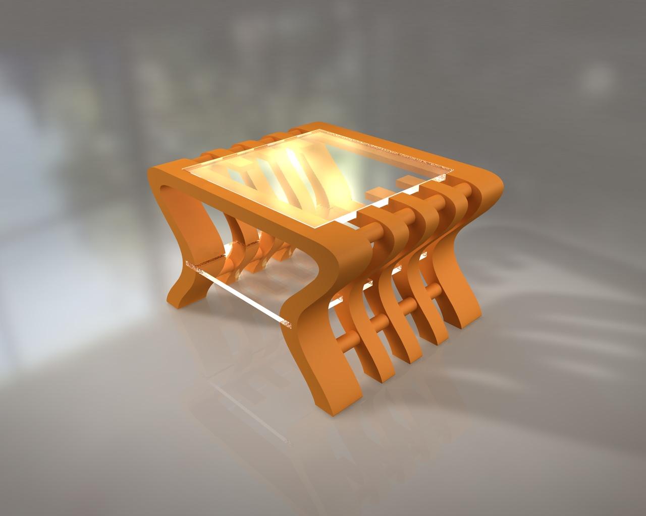 Vincent gianfranceschi table basse carton plexi glace - Table basse en carton ...