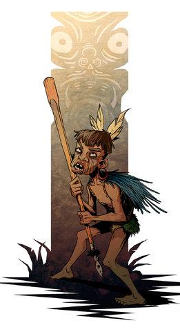 """Young Maori warrior"""