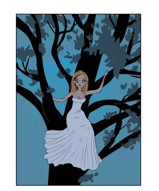 Princesse dans l'arbre