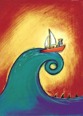 Affiche Un Homme à la mer