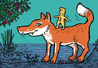 Sur le dos du renard