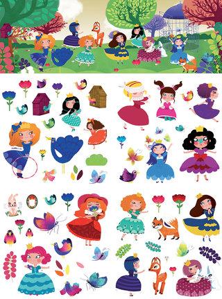 Princesses des bois stickers