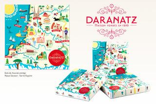 Illustration pour une boite de chocolats - Maison Daranatz-
