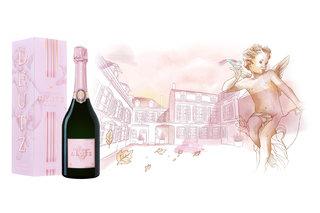 Refonte d'une illustration pour la marque de champagne Deutz