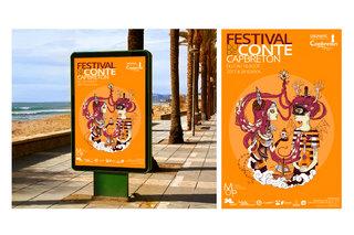 Affiche pour le festival du conte de Capbreton