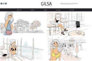 """Illustrations pour la marque de solutions lingerie """"Gilsa Paris"""" (site web)"""