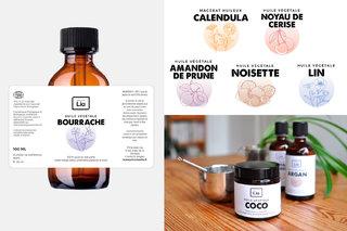 Réalisation d'étiquettes pour une marque de produits cosmétiques bio