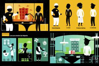 """Ecrans fixes pour animations """"Spie Batignolle"""" (constructeur immobilier)"""