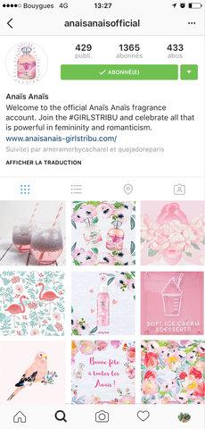 Moodboard Instagram Anaïs Anaïs de Cacharel