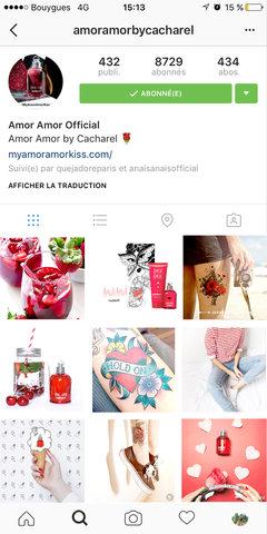 Moodboard Instagram Amor Amor de Cacharel