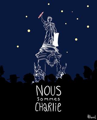 illustration hommage à Charlie Hebdo