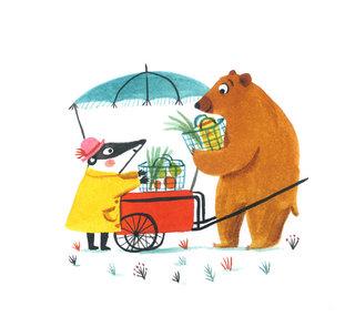 Le pousse-pousse de grand ours
