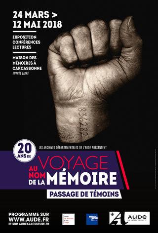 """Exposition """"Voyage au nom de la Mémoire"""" 2018"""