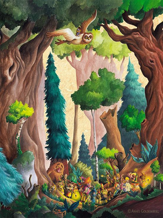 Couverture de l'Extraordinaire Almanach de la Forêt