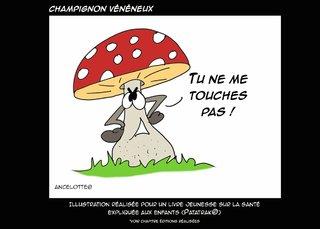 champignon vénéneux - illustration pour les 5/10 ans