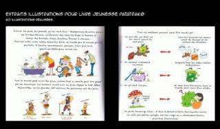 Extraits pages livre jeunesse