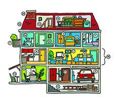 dessin de coupe maison