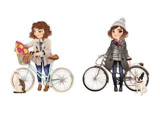 Portraits à bicyclette - Bicycle portraits - Numérique