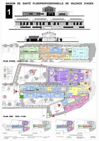 MAISON DE SANTE DE VALENCE D'AGEN-Agences d'architectes: ARCHITECTES ASSOCIES BONETTO CAPMAS et MEDALE LABOUP Maître d'Ouvrage: CC2R