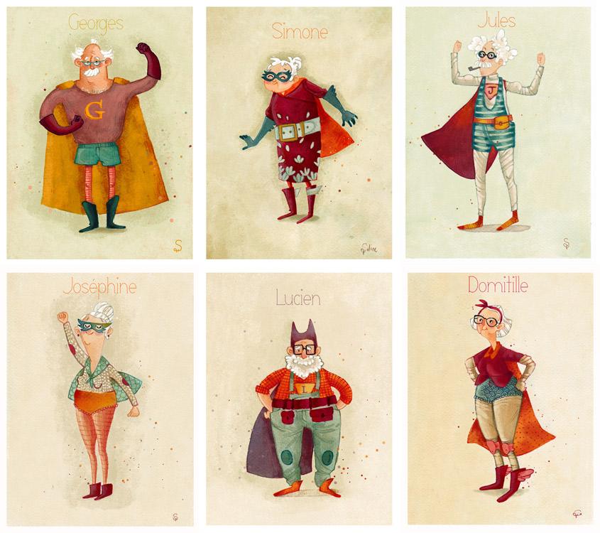 Les papys mamies super-héros