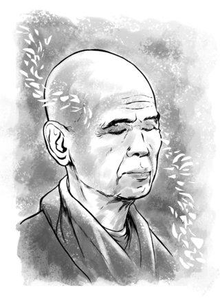 Portrait de Thich Nhat Hanh