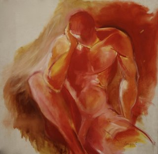 Corps homme rouge, huile sur toile.jpg