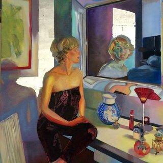 Marie-Jo, huile sur toile