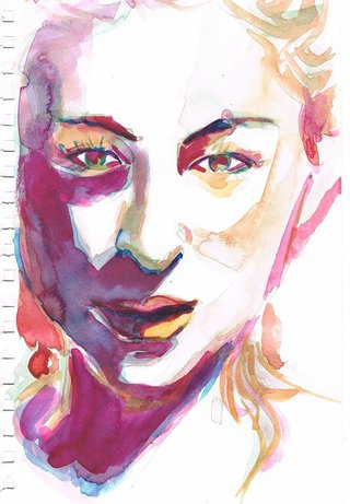 Tassia, aquarelle sur papier