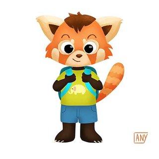 Panda Roux va à l'école