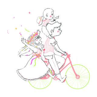 Illustration pour faire part e Mariage