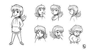 Concept personnage petite fille