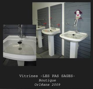 """Vitrine boutique """"Les Pas Sages"""""""