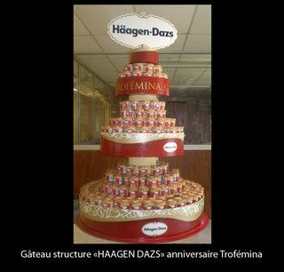 """Gâteau structure """"Häagen Dazs"""""""