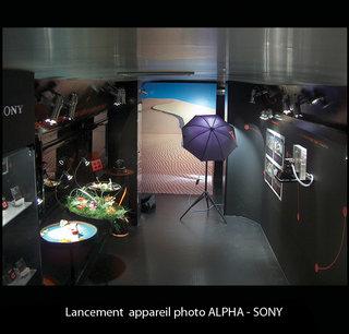 Lancement appareil photo SONY